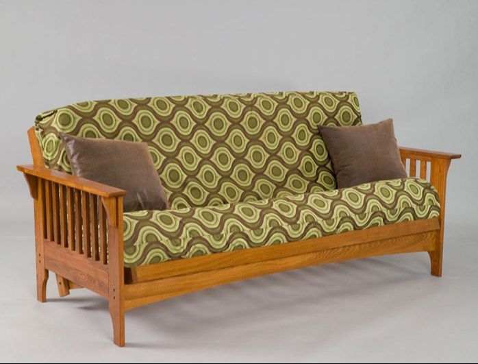 Boston Oak Futon Frame Available In Cherry Finish Only Full Bi Fold 429 Queen 499 Loveseat Lounger 82 L X 38 D 32 H